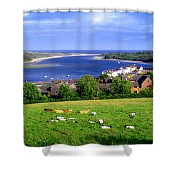 Dundrum Bay In County Down Ireland Shower Curtain by Nina Ficur Feenan
