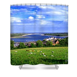 Shower Curtain featuring the photograph Dundrum Bay Irish Coastal Scene by Nina Ficur Feenan