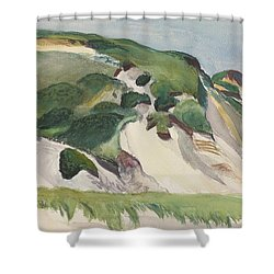 Dune At Truro Shower Curtain by Edward Hopper