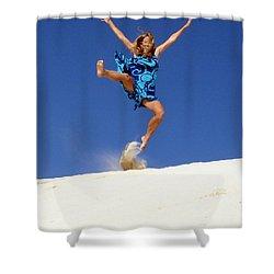 Dune Dance Shower Curtain by Ramona Johnston