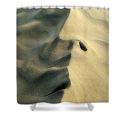 Sleeping Dune Face Shower Curtain