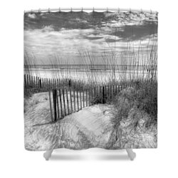 Dune Fences Shower Curtain