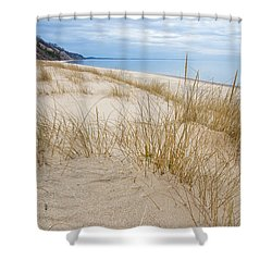 Dune Grass On Lake Michigan Shower Curtain by Mary Lee Dereske