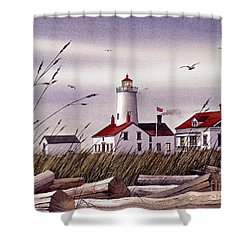 Dungeness Lighthouse Shower Curtain