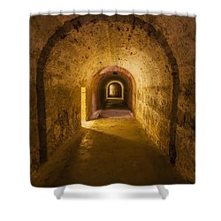 Dungeon At Castillo San Cristobal In Old San Juan Puerto Rico Shower Curtain