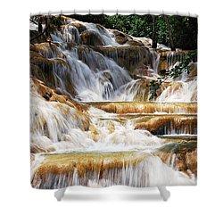 Dunn Falls Shower Curtain by Hannes Cmarits