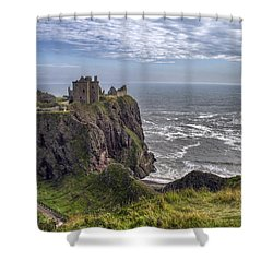 Dunnottar Castle And The Scotland Coast Shower Curtain by Jason Politte