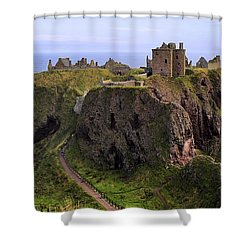 Dunnottar Castle Panorama Shower Curtain by Jason Politte