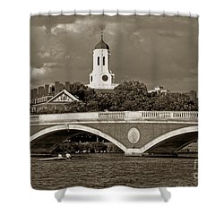 Weeks Bridge Charles River Bw Shower Curtain by Tom Wurl