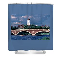 Weeks Bridge Charles River Shower Curtain by Tom Wurl