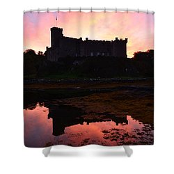 Dunvegan Castle At Dawn Shower Curtain