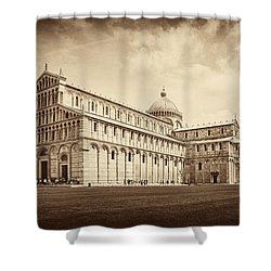 Shower Curtain featuring the photograph Duomo And Tower by Hugh Smith