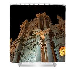 Duomo - Cathedral - Siracusa - Syracuse - Sicily - Italy Shower Curtain by Georgia Mizuleva