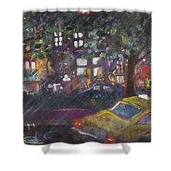 Dupont In The Rain Shower Curtain by Leela Payne