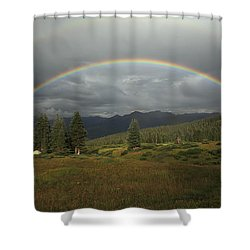 Durango Double Rainbow Shower Curtain