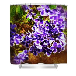 Shower Curtain featuring the photograph Durantas- Vintage Blooms by Darla Wood