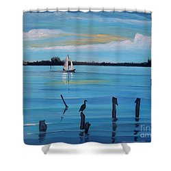 Dusk Approaching  Shower Curtain by Marilyn  McNish