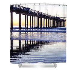 Dusk At Scripps Pier Shower Curtain