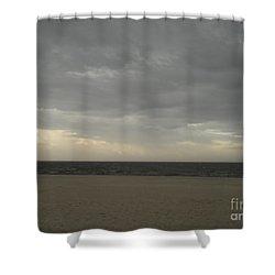 Dusk Beach Walk  Shower Curtain