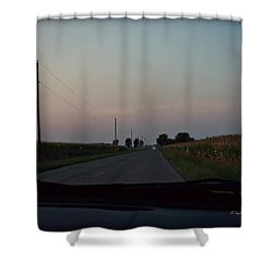 Dusk Between The Corn Stalks Shower Curtain by Paulette B Wright