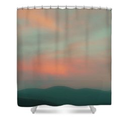 Dusk On Priest Lake Shower Curtain by David Patterson