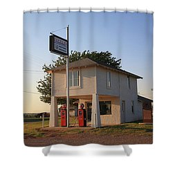 Dusk On Route 66 Shower Curtain by Frank Romeo