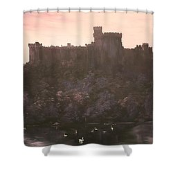 Shower Curtain featuring the painting Dusk Over Windsor Castle by Jean Walker