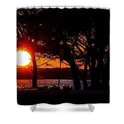 Dusky Cape Fear River  Shower Curtain