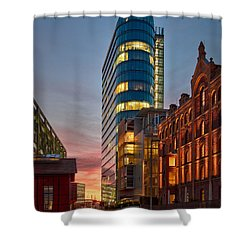 Dusseldorf Media Harbor Shower Curtain