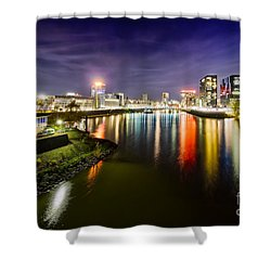 Dusseldorf Media Harbor Skyline Shower Curtain