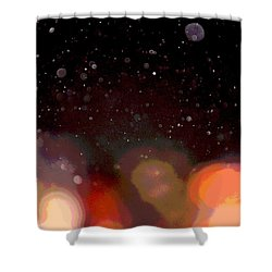 Shower Curtain featuring the photograph Dust And Bright Lights by Nadalyn Larsen