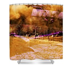 Dust Bowl Shower Curtain by Elizabeth McTaggart