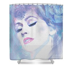 Dusty Blues Shower Curtain