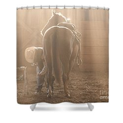 Dusty Morning Pedicure Shower Curtain