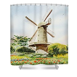 Dutch Windmill In San Francisco  Shower Curtain