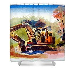 Duty Dozer II Shower Curtain