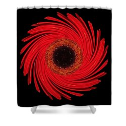 Dying Amaryllis Flower Mandala Shower Curtain