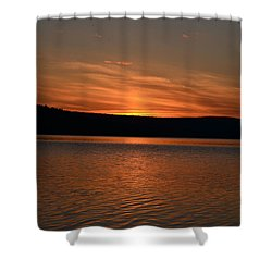 Dying Breath Of The Day Shower Curtain by James Petersen