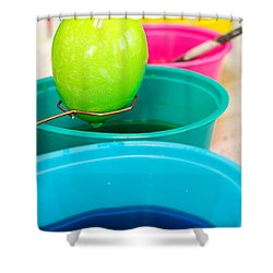 Dying Easter Eggs Shower Curtain by Edward Fielding