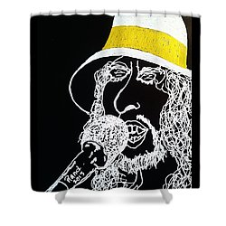 Dylan In Concert Shower Curtain