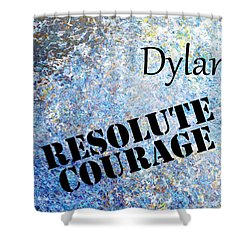 Dylan - Resolute Courage Shower Curtain by Christopher Gaston