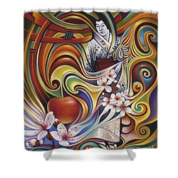 Dynamic Blossoms Shower Curtain by Ricardo Chavez-Mendez