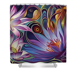 Dynamic Floral Fantasy Shower Curtain