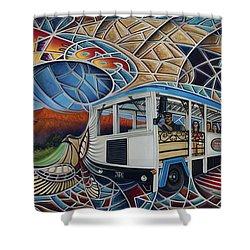 Dynamic Route 66 II Shower Curtain by Ricardo Chavez-Mendez