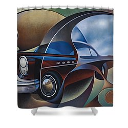 Dynamic Route 66 Shower Curtain