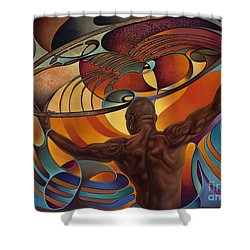 Dynamic Scorpio Shower Curtain by Ricardo Chavez-Mendez