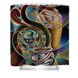 Dynamic Still I Shower Curtain