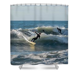 Dynamical Enjoyment Shower Curtain