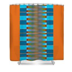 Shower Curtain featuring the digital art Dynamics Fete 1b by Darla Wood