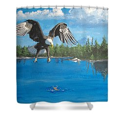Eagle Attack Shower Curtain